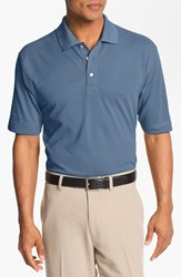Men's Big And Tall Cutter And Buck 'Championship' Drytec Golf Polo Sea Blue