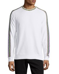Moschino Long Sleeve Embroidered Sweater White Women's