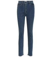 The Row Kate High Rise Skinny Jeans Blue