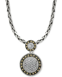 Effy Collection Effy Diamond Circle Pendant Necklace 1 8 Ct. T.W. In 18K Gold And Sterling Silver No Color