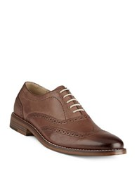G.H. Bass Corbin Leather Wingtip Oxford Shoes Tan