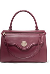 Hill And Friends Happy Zippy Leather Tote Burgundy