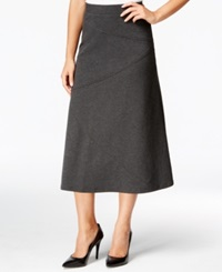 Jm Collection Petite Diagonal Seam A Line Skirt Only At Macy's Charcoal Nite