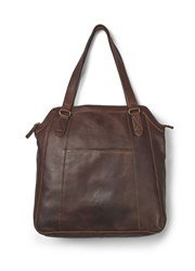 Fat Face Tilly Oiled Leather Tote Chocolate