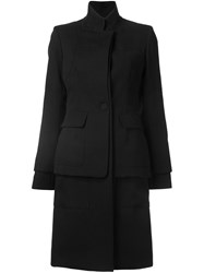 Vera Wang Double Layered Coat Black