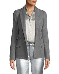 Ralph Lauren Camden Double Breasted Cashmere Jacket Gray