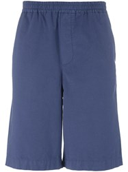 Msgm Elasticated Waistband Shorts Blue