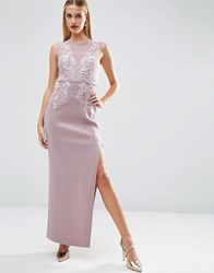 Asos Red Carpet Lace Placed Sweetheart Maxi Dress Lilac Purple