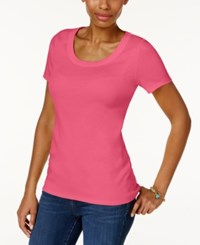 Charter Club Cotton Scoop Neck T Shirt Only At Macy's Glamour Pink