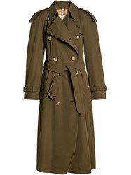 Burberry The Long Westminster Heritage Trench Coat Green
