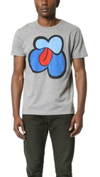 Marc By Marc Jacobs Lips Tee Grey Melange Multi