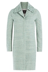 Steffen Schraut Circle Coat With Embellished Collar Green