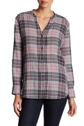 Soft Joie Long Sleeve Plaid Shirt Gray