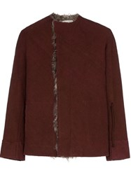 By Walid Etienne Shearling Jacket Red