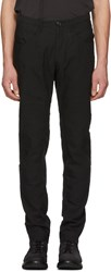 Ziggy Chen Black Low Pocket Trousers