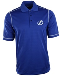 Antigua Men's Short Sleeve Tampa Bay Lightning Icon Polo Royalblue White