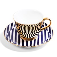 Richard Brendon Patternity Gold Teacup And Saucer