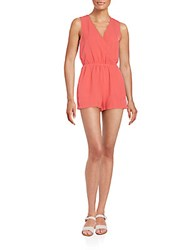 Saks Fifth Avenue Red Sleeveless Short Jumpsuit Coral