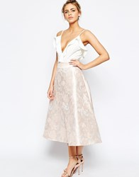 Coast Madsen Jacquard Full Skirt In Pink Pink