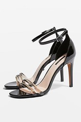 Topshop Reta Two Part Sandals Black