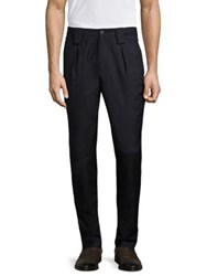 Etro Manhattan Wool Trousers Navy
