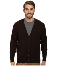 Pendleton Shetland Cardigan Sweater Brown Men's Sweater