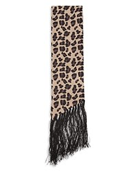 Reiss Tallo Skinny Angled Scarf Leopard