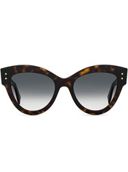 Fendi Eyewear Oversized Cat Eye Sunglasses Brown