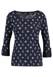 Only Onljess Long Sleeved Top Navy Blazer Cloud Dancer Dark Blue
