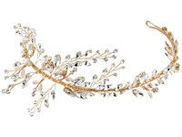 Nina Drees Marquis Leaves Tiara Silver Gold Marquis Leaves Tiara Headband
