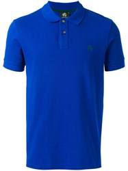 Paul Smith Ps By Chest Embroidery Polo Shirt Blue