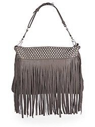 Ash Zappa Fringed Leather Hobo Elephant