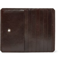 Montblanc Heritage Leather Zipped Cardholder Brown