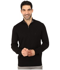 Nautica 1 4 Zip Sweater True Black Men's Sweater