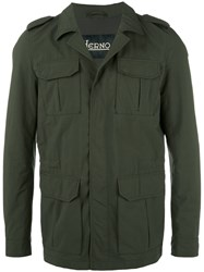 Herno Multiple Pockets Military Jacket Green