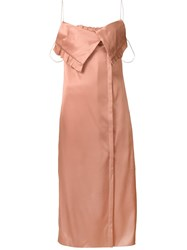 Edun Slipping Camisole Dress Pink And Purple