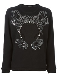Versace Studded Sweatshirt Black