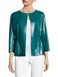 Lafayette 148 New York Keiran Lacquered Leather Jacket Pasture