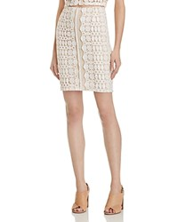 Aqua Lace Mini Skirt Ivory Nude