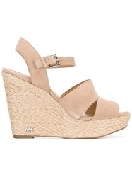 Michael Michael Kors Wedged Sandals Nude Neutrals