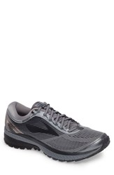 Brooks Men's Ghost 10 Running Shoe Grey Metallic Charcoal Ebony