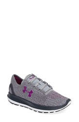 Under Armour Women's Speedform Slingride Tri Running Shoe Gray Gray Purple