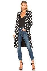 Norma Kamali Double Breasted Trench Black