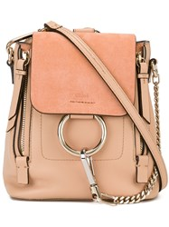 Chloe Mini Faye Backpack Nude And Neutrals
