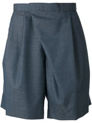 Kolor Asymmetric Tailored Shorts Men Cupro Wool 3 Grey