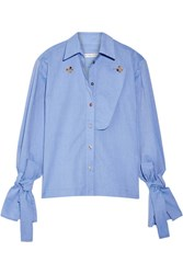 Rejina Pyo Billie Cotton Chambray Shirt Light Blue