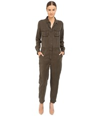 The Kooples Combinaison Longue En Tencel Poches Plaquees Kaki Women's Jumpsuit And Rompers One Piece Khaki