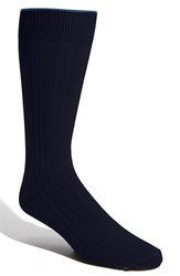Men's Big And Tall Nordstrom Cotton Blend Socks Navy
