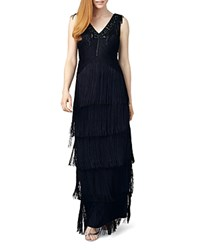 Phase Eight Sable Fringe Gown Ink