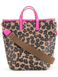 Muveil Floral Print Tote Women Polyester One Size Brown